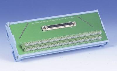 Bornier ADAM pour carte d'acquisition de données, SCSI-100 Wiring Terminal, DIN-rail Mount