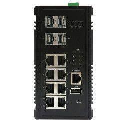 Switch PoE+ Gigabit 8 ports + 4 SFP