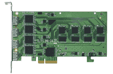 Carte industrielle d'acquisition vidéo, PCIe x4 4ch HDMI HW Video Card SC580 N4 HDMI