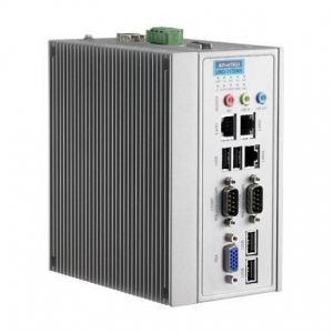 PC industriel fanless à processeur Atom D510 DIN-rail PC avec 3xEthernet,2xCOM,mPCIe