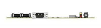 Carte mère industrielle, DC 19V miniITX PGA HDMI/mPCIe/Cfast/GbE, RoHS