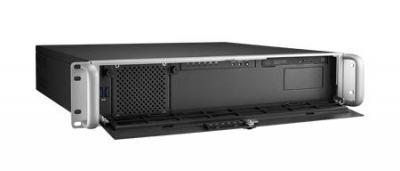 """Châssis 2U pour PC rack 19"""" profondeur 398mm seulement avec alimentation redondante 2x500W"""