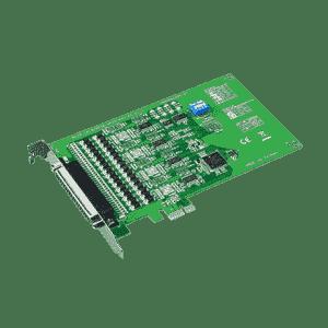 Carte PCIex1 série 4-ports RS-232 protection surtension 1000V avec câble 4 SubD 9