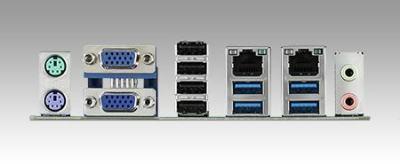 AIMB-501F-CWA1E Carte mère industrielle, MicroATX with 3VGA/10COM/10USB/2LAN/VAG always