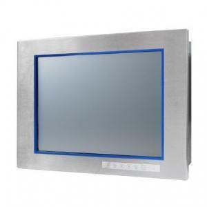 "Ecran industriel 15"", encastrable et tactile, durci, acier inoxydable, IP65 VGA/DVI, -20-60C, C1D2/ATEX"