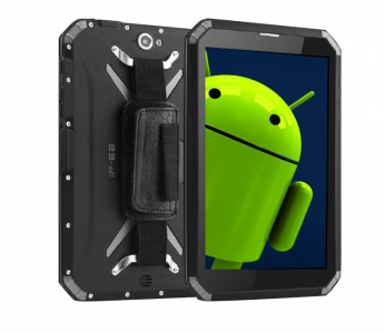 "Tablette durcie 8"" Android 9 IP68 lisible au soleil NFC-RFID"