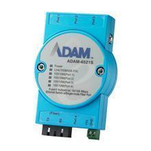 Switch Rail DIN industriel ADAM 5 ports 10/100 Mbps + 1 Fibre SM