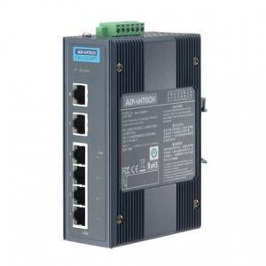 Switch Rail DIN Industriel 6 ports 10/100Mbps dont 4 ports POE