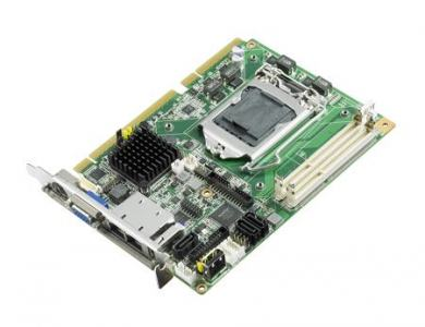 Carte mère industrielle demi-longueur bus PCI/PCIE, PICMG 1.3 H/S SBC, H61, 2GbE, 2 display