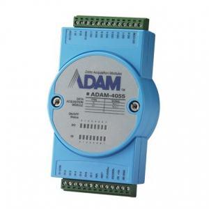ADAM-4055-BE Module ADAM sur port série RS485, 16-Ch Isolated DI/DO Module w/ LED & Modbus