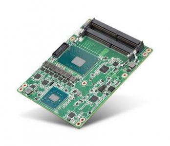 Carte industrielle COM Express Basic pour informatique embarquée, Intel i3-6102E 1.9GHz 25W 2C COMe Basic non-ECC