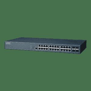 Switch rack industriel 24 ports Gb + 4 Fibre SFP Gb Managé
