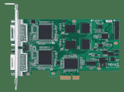 Carte industrielle d'acquisition vidéo, 2ch HDMI/DVI/VGA/YPbPr/Composite/S-video PCIe SW
