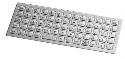 Clavier inox 64 touches format carrées 12.5mm montage par l'arrière