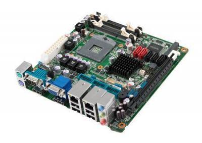Carte mère Mini-ITX semi-industrielle, HM65 MINI-ITX, VGA/HDMI/LVDS/DP, 4 COM, 2GbE