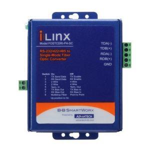 Convertisseur fibre optique, RS-232/422/485 to SM Fiber, Heavy Industrial