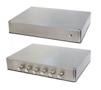 PC Fanless coffret Inox étanche IP65 température étendue E3825 1.46Ghz 12V DC