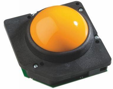 Trackball 75mm en bakélite couleur noire Etanchéité: IP40
