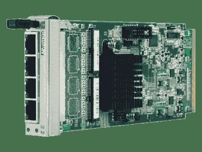 Cartes ethernet pour PC industriel CompactPCI, 4-port GbE AMC with RJ-45 conn.