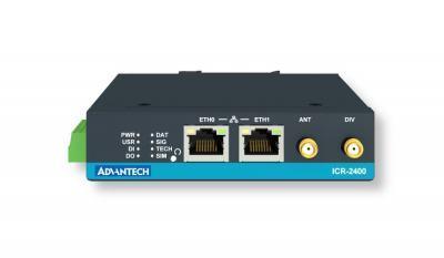 Routeur 4G industriel 2xSIM et 2xRJ45 + ƒ 1× RS232, 1× RS485 + 1 DI et 1 DO