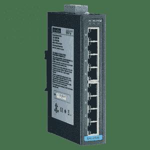 Switch industriel 8 ports Ethernet 10/100 Mbps en boîtier métallique et alimentation redondant