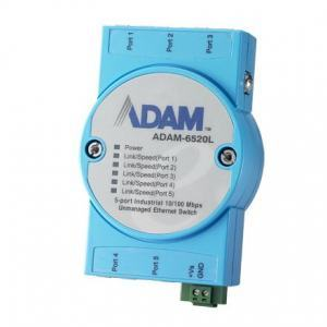 ADAM-6520L-AE Switch Rail DIN industriel ADAM 5 ports 10/100Mbps -10 ~ 70°C
