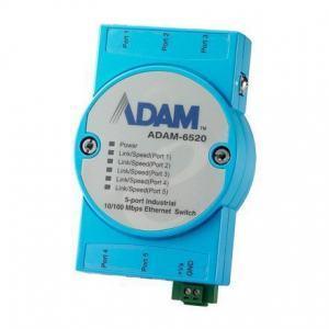 Switch Rail DIN ADAM industriel 5 ports 10/100 Mbps