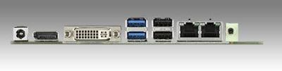 AIMB-225G2-01A1E Carte mère industrielle, miniITX SOC 412HC DP/LVDS/DVI-I/eDP/mPCIe/2Gb