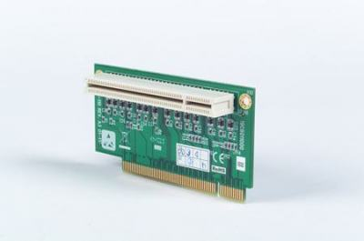 """Accessoire, 1-slot PCI riser card for 5.25"""" biscuits"""