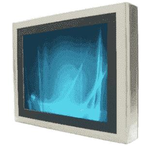 """Ecran tactile résistif INOX 17"""" IP65 6 faces Fanless - alimentation 12V"""