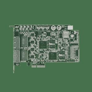 Carte ethernet 4 ports Gigabit POE pour application de vision frame grabber