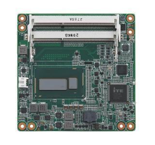 Carte industrielle COM Express Compact pour informatique embarquée, i3-4010U 1.7G 15W 2C COMe Compact non-ECC
