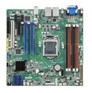 Carte mère industrielle pour serveur, LGA 1150 uATX Server Board with 2 PCIe x8, 1 LAN
