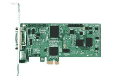 Carte industrielle d'acquisition vidéo, 1ch DVI/YPbPr/S-video/composite PCIe-L SW card