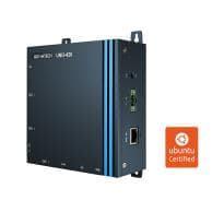 PC Fanless alimenté par PoE compatible Ubuntu / Windows 3 x COM, 2 x LAN (1 x PoE), 8 x GPIO, HDMI, USB3.0, TPM2.0