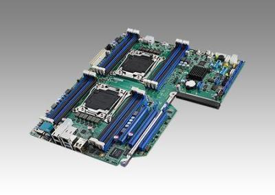 Carte mère industrielle pour serveur, LGA2011-R3 EATX SMB w/8 SATA/3 PCIe x16/4 GbE/I