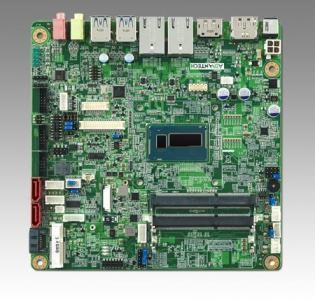 AIMB-230G2-U0A1E Carte mère industrielle, DC miniITX Haswell-ULT Celeron2980U eDP/DP/DP++