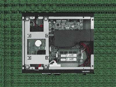 AIMB-T12313A-00Y0E PC industriel ventilé, AIMB-T1000A w/AIMB-231 i3-5010U, barebone w/ADPT
