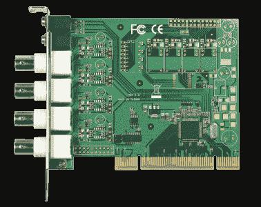 Carte industrielle d'acquisition vidéo, PCI 4ch H.264/MPEG4 SW-Compression Video Card