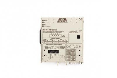 Convertisseur RS232 <> RS422/485 isolé, retournement de ligne automatique et option double port RS232 AC universelle intégrée