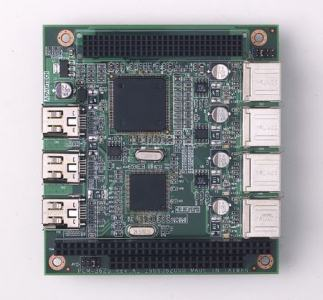 Carte industrielle PC104, USB2.0 and IEEE1394 PC/104+ module, G