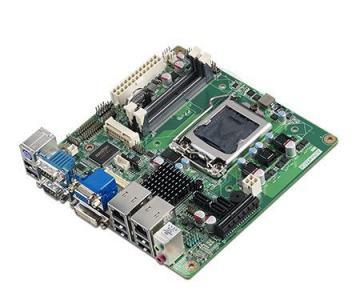 AIMB-281G2-00A1E Carte mère industrielle, SNB H61 MINI ITX w/VGA,LVDS,DVI,2GbE,6COM