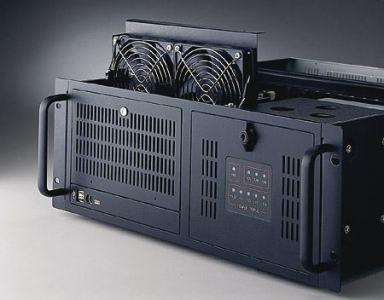 "Châssis silencieux 4U 2x500W pour PC rack 19"" à carte mère ATX/MATX"