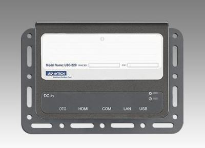 PC Fanless passerelle IoT, UBC-220 NXP i.MX6 dual-core lite, 1 GHz, 1GB DDR3, 0~60 degree