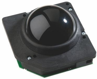 Souris trackball en bakélite 75 Trackball couleur noire Etanchéité: IP40