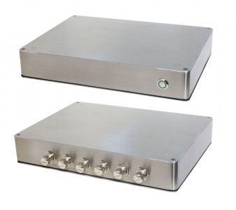 PC Fanless en coffret Inox étanche IP65 6 faces - QuadCore J1900 2.0 GHz