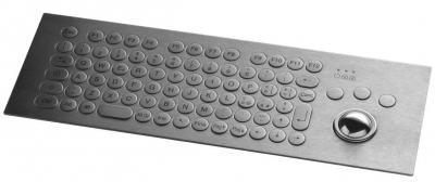 Clavier inox rétroéclairé 81 touches rondes  ø17mm avec trackball