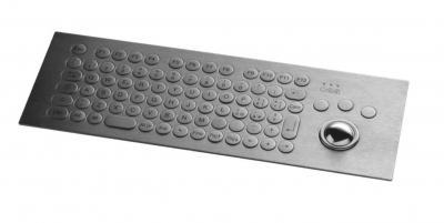 Clavier inox 81 touches rondes  ø17mm avec trackball