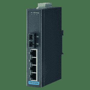 Switch Rail DIN industriel 4 ports 10/100Mbps + 1 FX Multimode