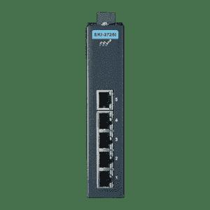 Switch Rail DIN industriel 5 ports Ethernet Gigabit -40°C +70°C en boîtier métallique et alimentation redondante